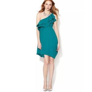NEW Rebecca Taylor one shoulder ruffle dress